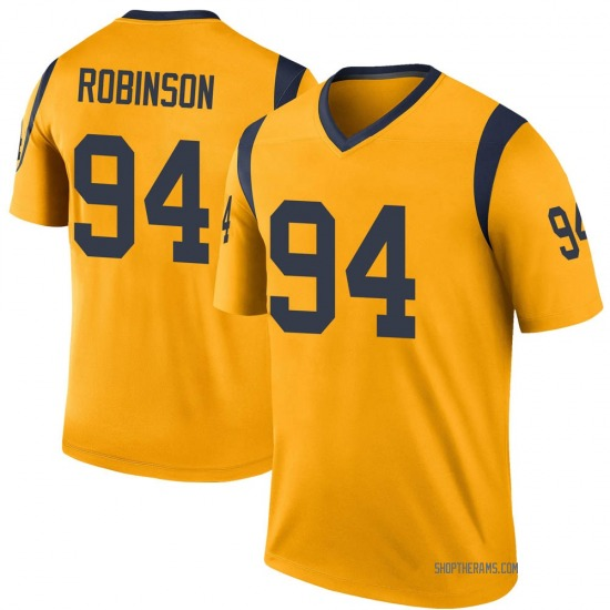 A'Shawn Robinson Los Angeles Rams No.94 Legend Color Rush Jersey - Gold