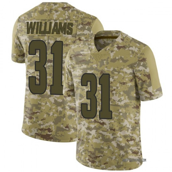 Darious Williams Los Angeles Rams No.31 Limited 2018 Salute to Service Jersey - Camo