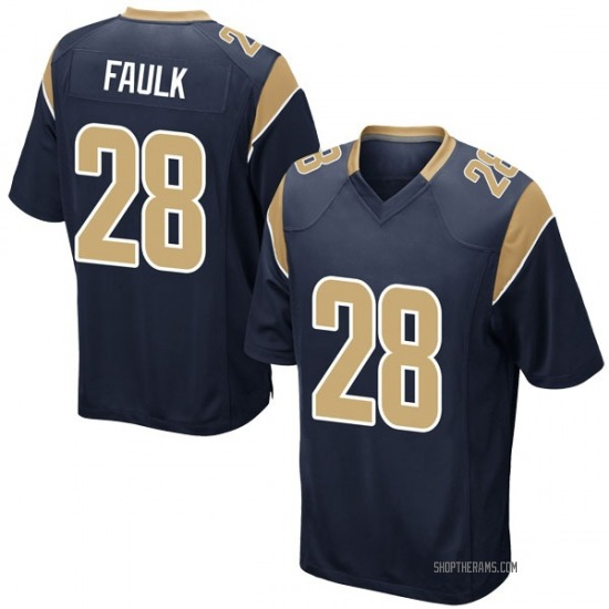Marshall Faulk Los Angeles Rams No.28 Game Team Color Jersey - Navy