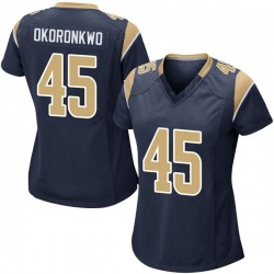 Ogbonnia Okoronkwo Los Angeles Rams No.45 Game Team Color Jersey - Navy